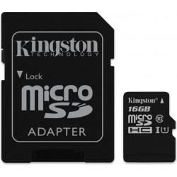 Kingston 16GB microSDXC + Adapter 16GB