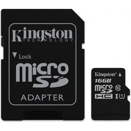 Kingston 16GB microSDXC + Adapter 16GB