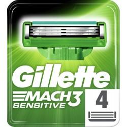 Gillette wkłady do maszynki Mach3 sensitive - 4 sztuki