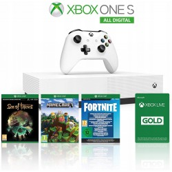 Xbox One S 1TB All Digital + Minecraft + Sea of Thieves + Fornite