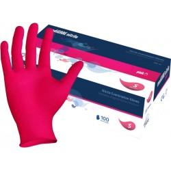 Rękawiczki nitrylowe mediCARE PINK rozm S 100 szt